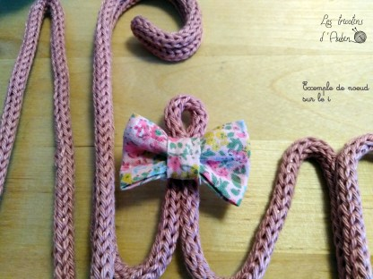 Noeud Liberty tricotin