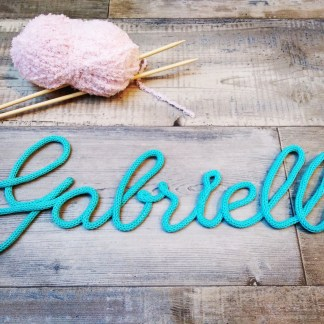 Prénom Gabrielle au tricotin