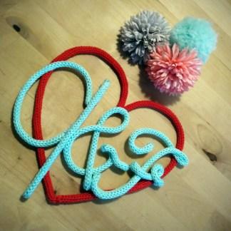 Initiales de l'amour