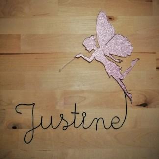 Justine fil de fer avec une fée