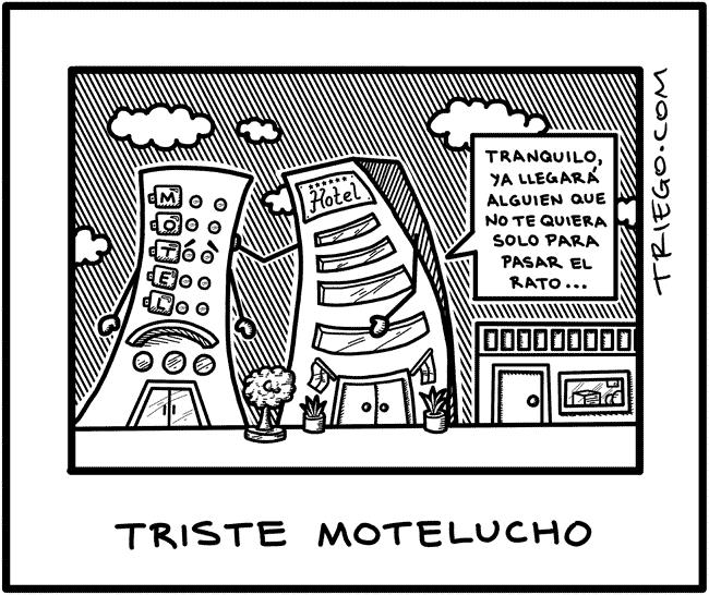 caricatura motel y hotel
