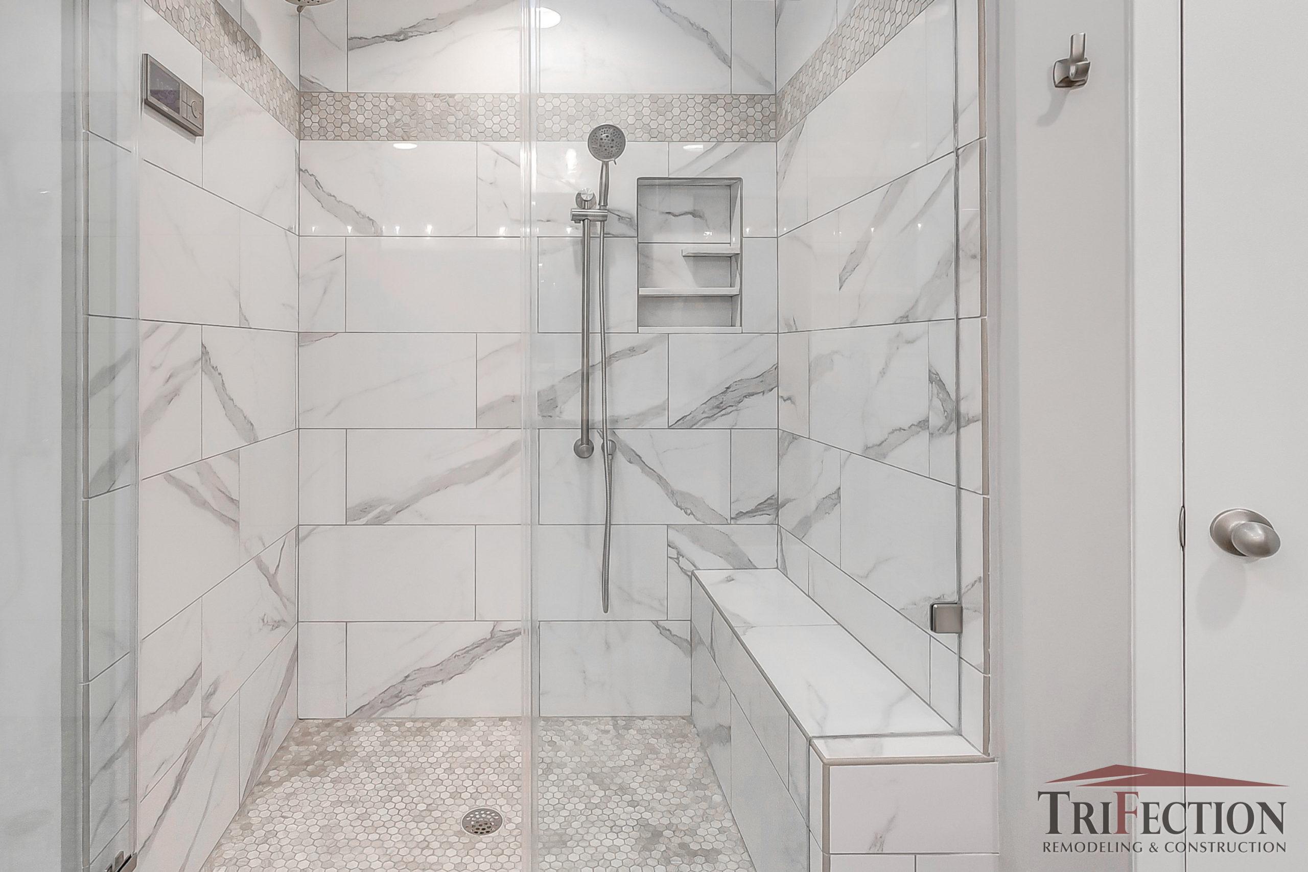walk in shower ideas custom island