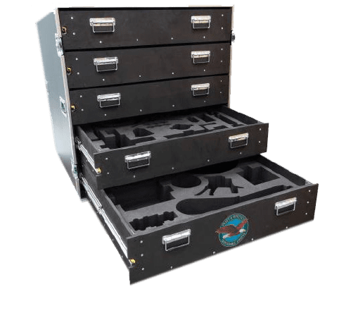Flight Case with Routed Foam Drawers for Pratt and Whitney