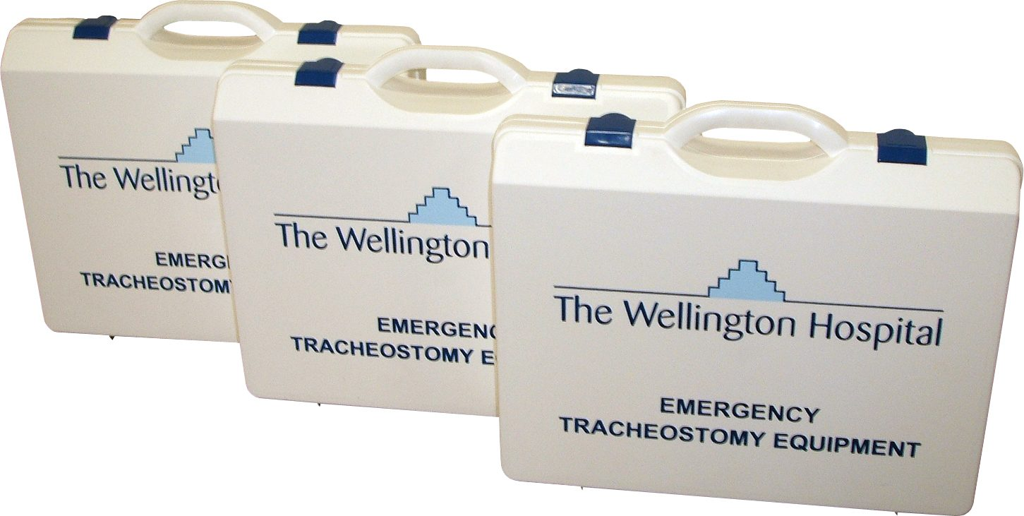 Screen Printed Plsatic Cases for The Wellington Hospital