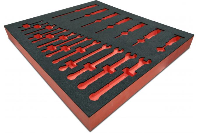 Colour foam routed insert tool tray
