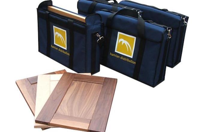 Bespoke padded presentation bag with screen printed logo