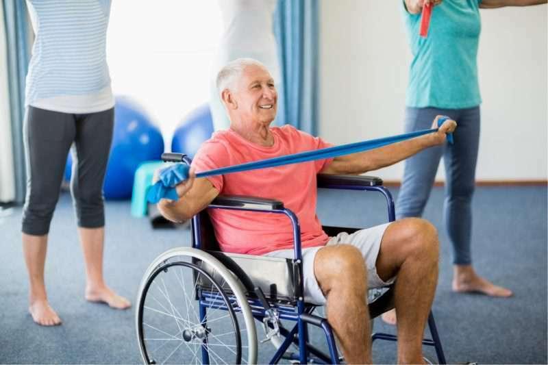 Trifocus fitness academy - wheelchair bound elderly