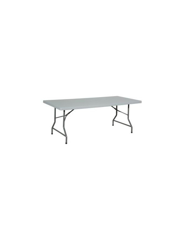 table rectangulaire pliante polyethylene 200 x 90 cm