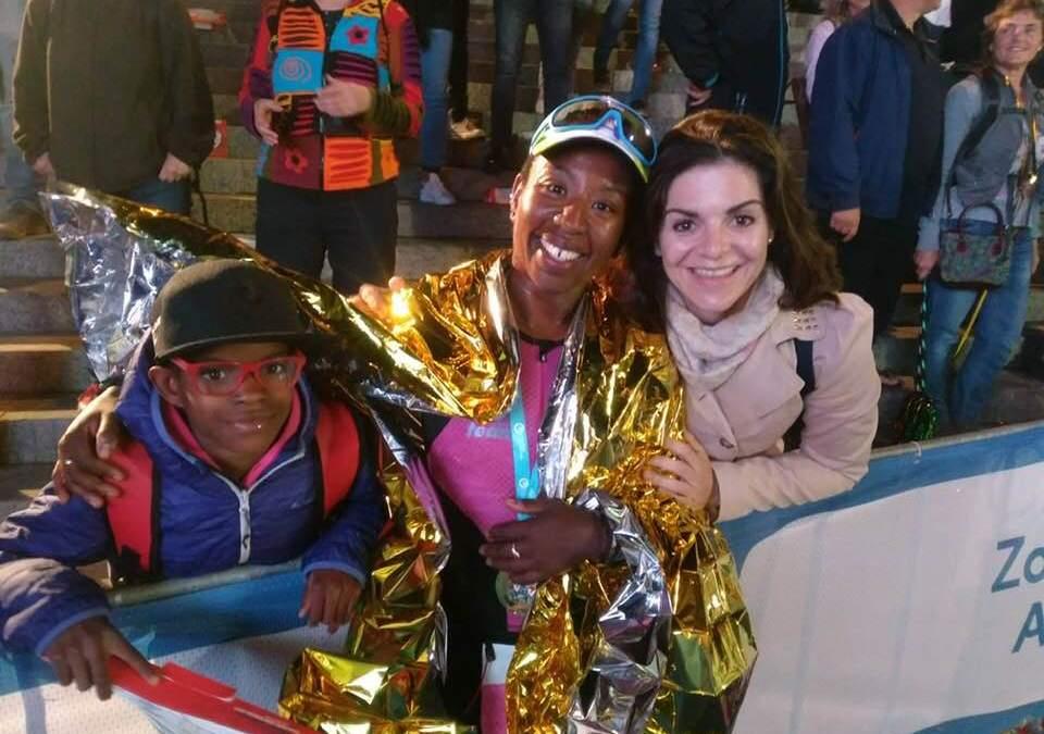 Céline Marti réalise la course de SA vie à l'IM d'Amsterdam