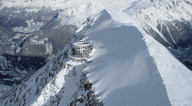 Calor desmorona rota normal do Mont Blanc