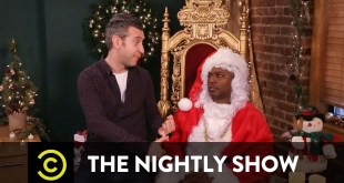 Cam'ron The Nightly Show's Office Santa (Video)