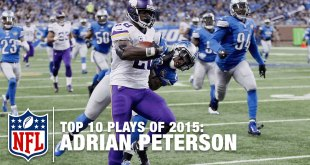 Top 10 Adrian Peterson Plays of 2015 (Video)