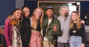 Pharrell delivers a Masterclass with Students at NYU Clive Davis Institute