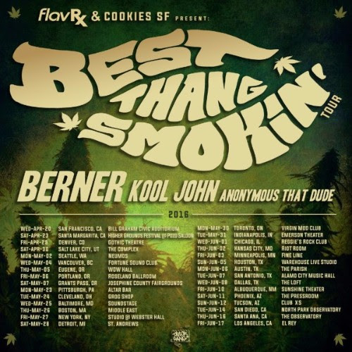best thang smokin berner tour