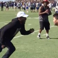 Watch Kendrick Lamar & ScHoolboy Q Hang Out at Rams Training Camp