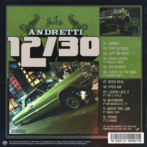 Curren$y - Andretti 12/30 (Mixtape)