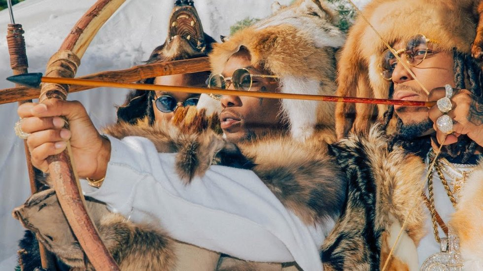 The Migos travel to snowy mountains for their new video 'T-Shirt'