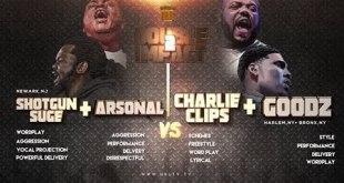 Charlie Clips + Goodz vs Arsonal + Shotgun Smack/URL (Rap Battle)