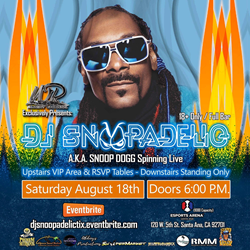 DJ Snoopadelic to Bring the Heat When He Spins at One of Summer's Biggest Party Events on Aug. 18