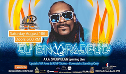 DJ Snoopadelic aka Snoop Dogg, to Spin With A Lineup of Music Artists on Aug. 18 at eSports Arena