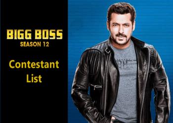 Bigg Boss Season 12 Contestants List with Photos 2018