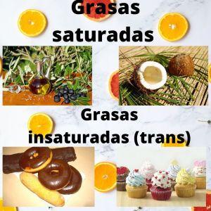 Diferencia entre grasa saturada e insaturada