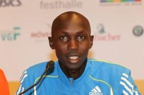 Wilson Kipsang.  Vainqueur de l'édition 2010 du marathon de Frankfurt en 2:04:57