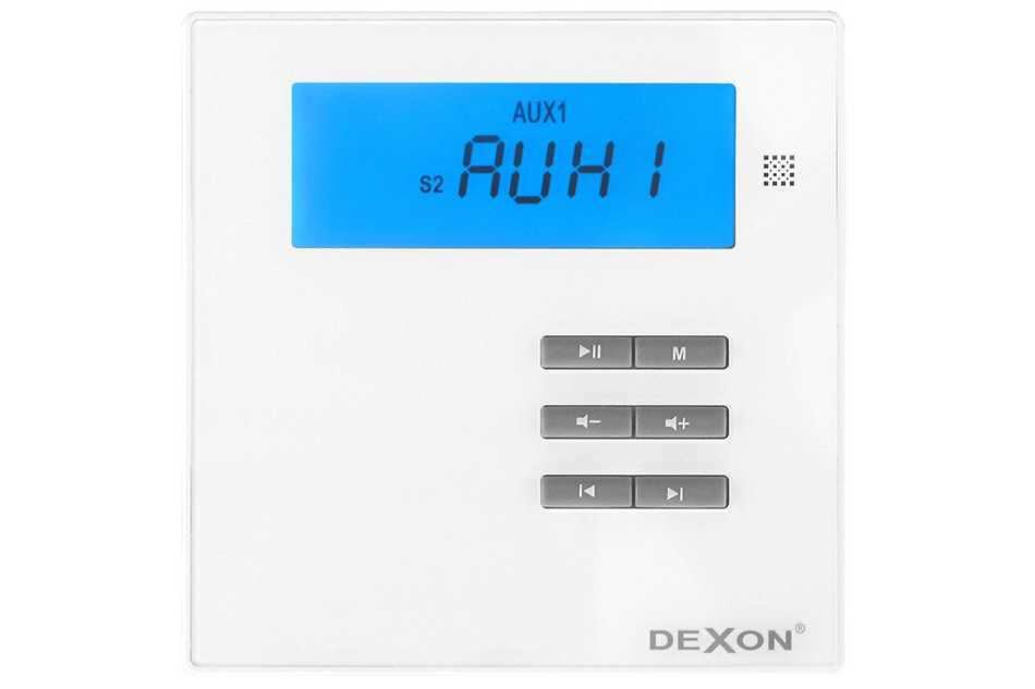 Dexon MRP 2171 inštalačný zosilňovač s Bluetooth / USB / SD / MP3 prehrávač / FM tuner