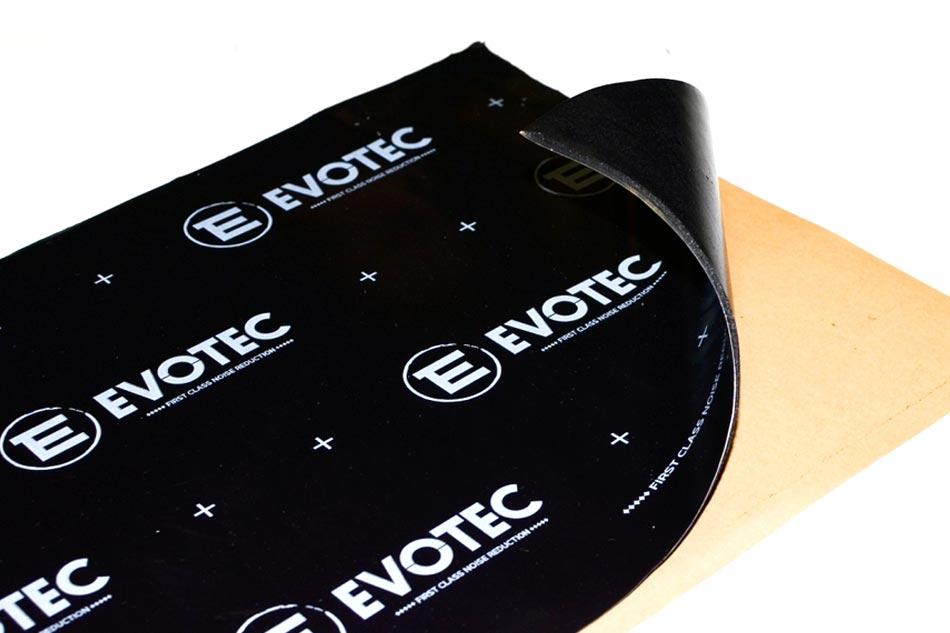 Evotec 2.0 - samolepiaci butylkaučukový tlmiaci materiál s hliníkovou fóliou na povrchu