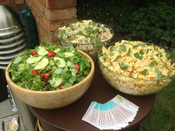 Salads for outdoor BBQ event in Loughton, Essex