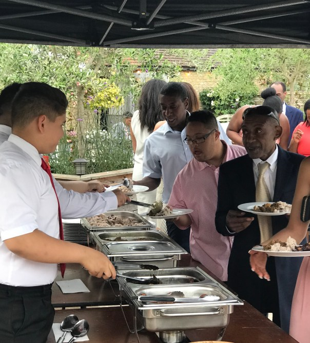 Caribbean Food serverd to Wedding Guests