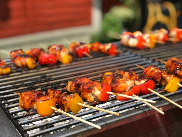 Prawn Skewers on the BBQ