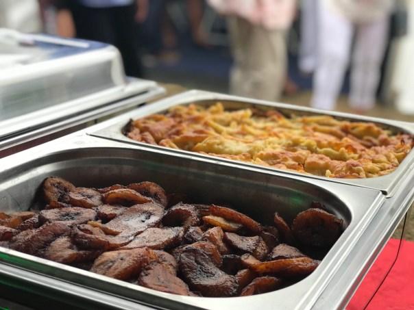 Caribbean Fried Plantain and Macaroni Pie