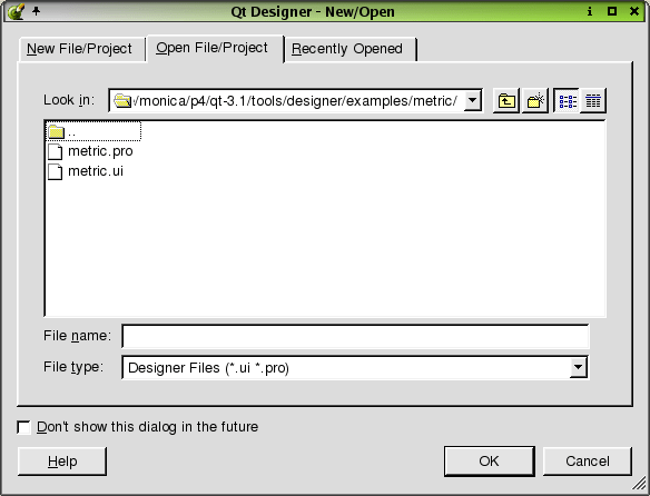 Reference: Dialogs