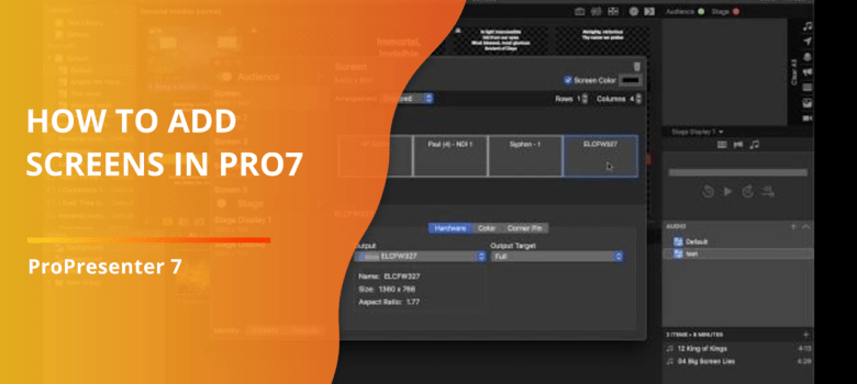 How to add screens in Pro7