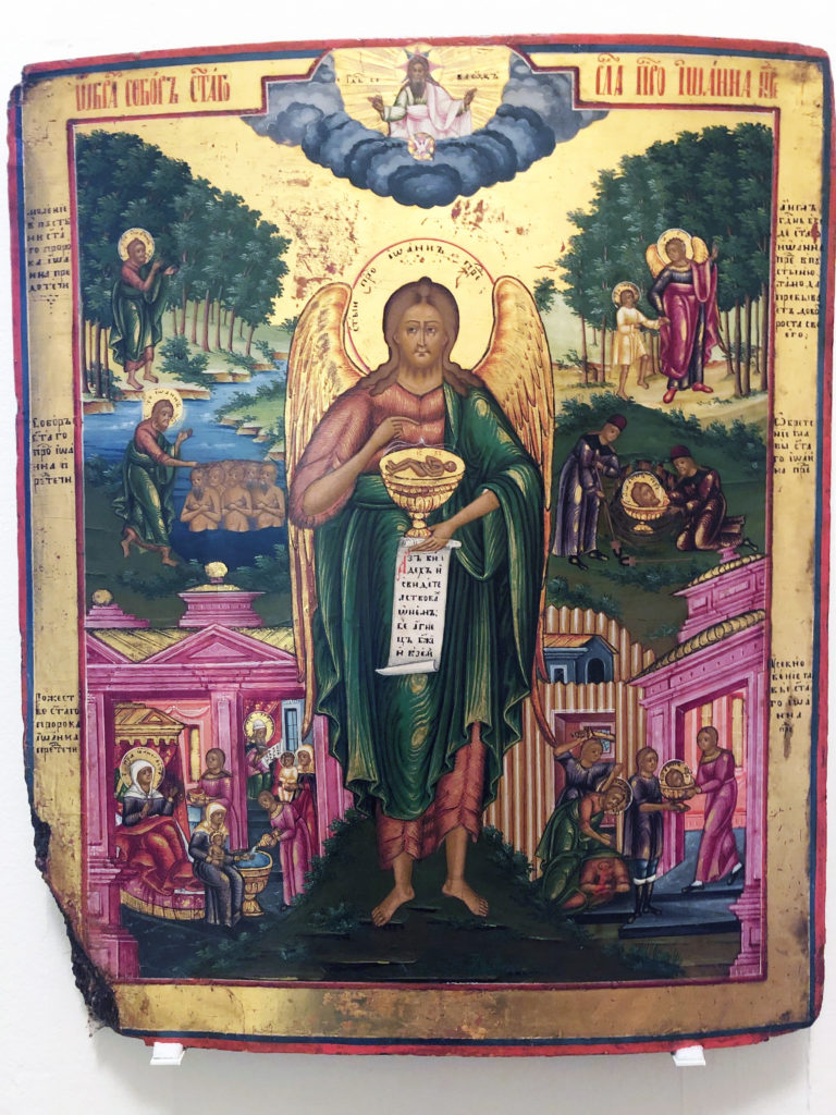 St. John the Forerunner Icon at Maryhill Museum of Art