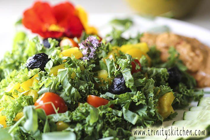 Summer Kale Salad with Hemp & Parsley Dressing – Trinity's ...