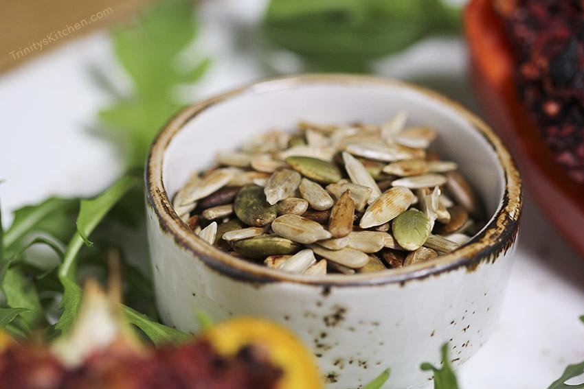 Tamari toasted seeds - easy vegan snack by Trinity