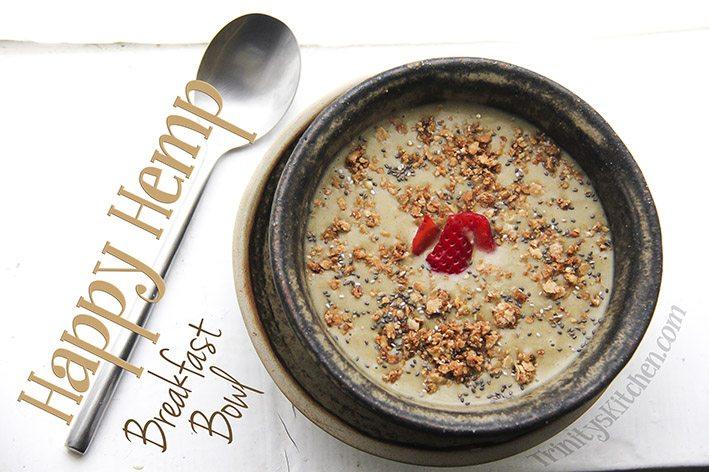 Hemp protein breakfast bowl main by Trinity Bourne