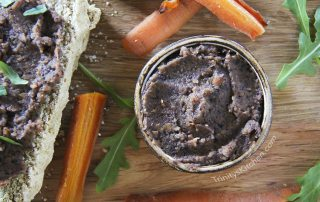 Roast carrot & black bean pate by Trinity - vegan dairy-free