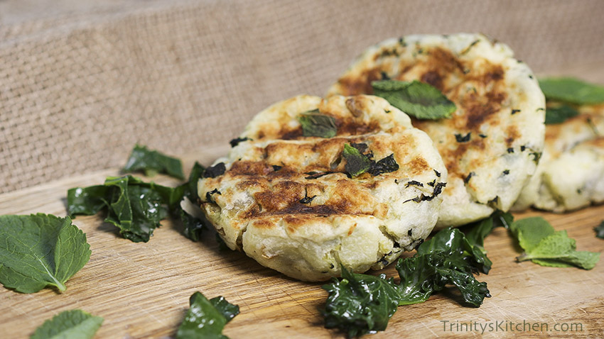 Coconut Mint Potato Patties with Only 4 Ingredients