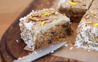 Raw no-bake carrot cake by Trinity - gluten-free vegan, no refined sugar