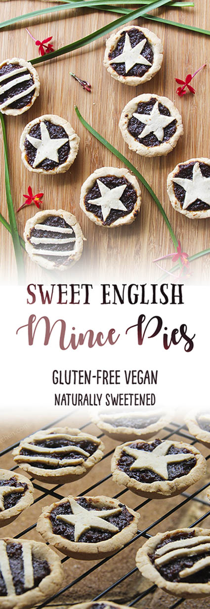 sweet english mince pies for Christmas - gluten-free, vegan and naturally sweetened by Trinity
