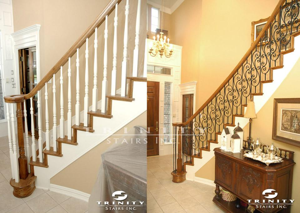 Stair Remodeling Before Amp After Gallery Trinity