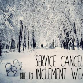 January 13, 2019 - Worship and All Activities are Canceled
