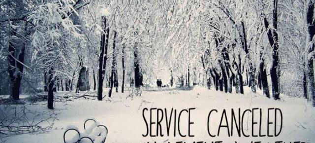 Service Cancelled - Tuesday March 20