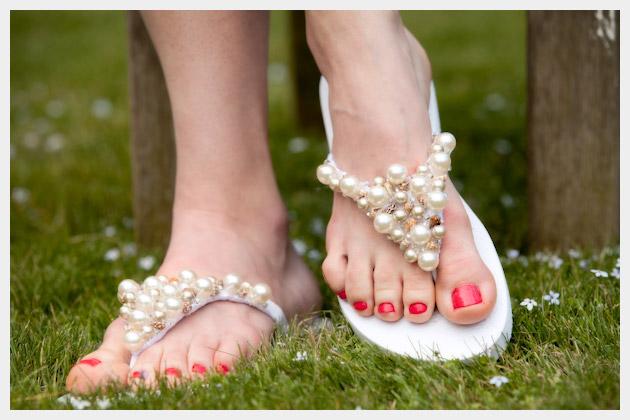 Frisado Flip Flop Sandália