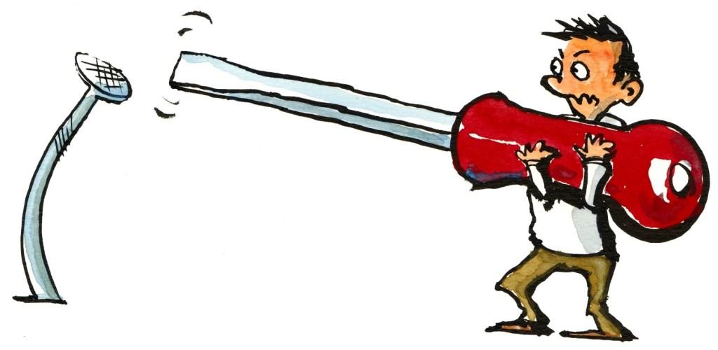 Imagem de pessoa tentando usar chave de fenda para pregar um prego análise técnica