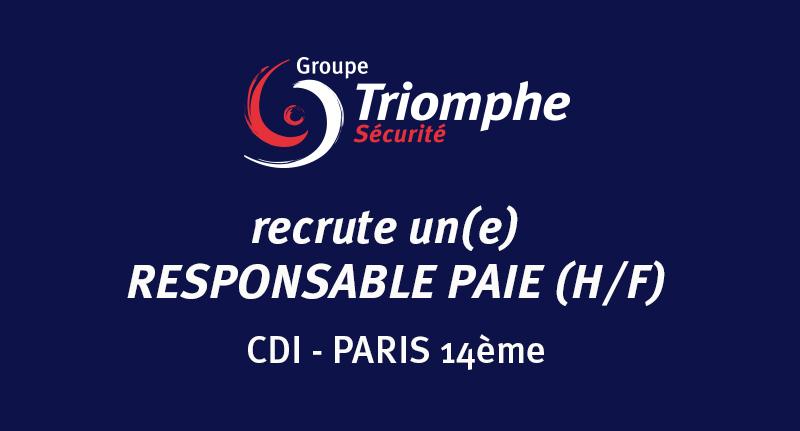 OFFRE D'EMPLOI : Responsable PAIE (H/F) en CDI à Paris