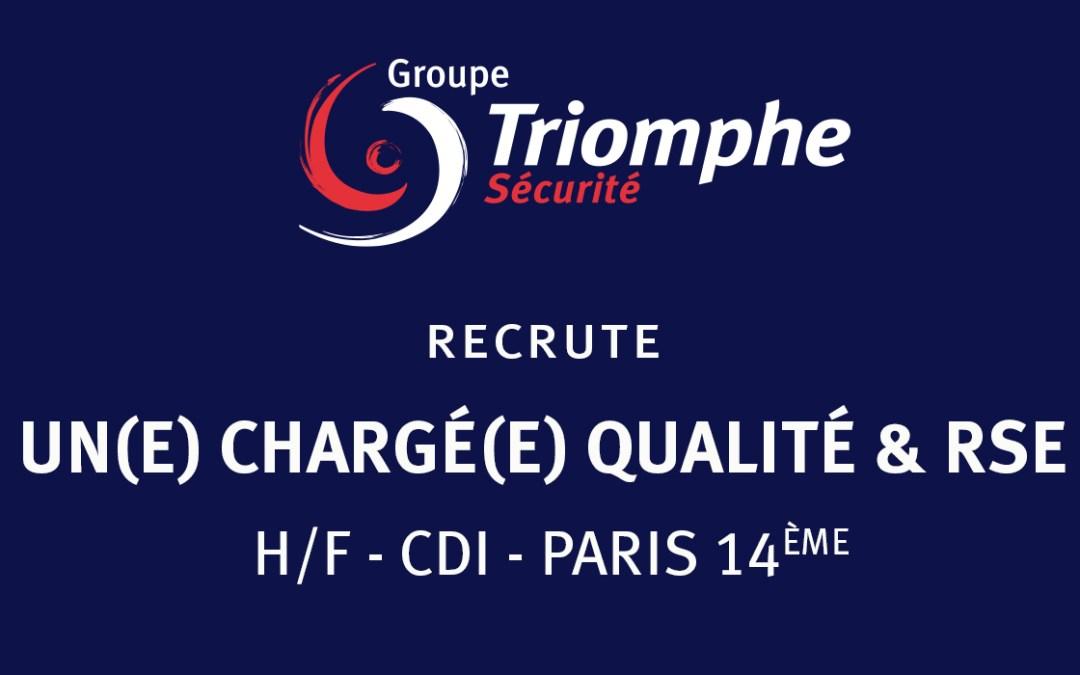 TRIOMPHE SECURITE RECRUTE UN(E) CHARGE(E) QUALITE & RSE – H/F – CDI – PARIS